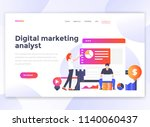 landing page template of... | Shutterstock .eps vector #1140060437