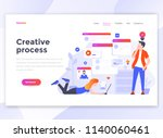 landing page template of... | Shutterstock .eps vector #1140060461