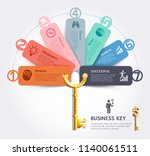 business key concept... | Shutterstock .eps vector #1140061511