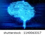 creative digital brain...   Shutterstock . vector #1140063317