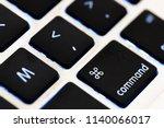 close up flat keyboard laptop... | Shutterstock . vector #1140066017