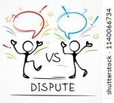 dispute  business meeting ... | Shutterstock .eps vector #1140066734