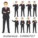 business man set different... | Shutterstock .eps vector #1140067217