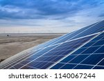 solar cell and wind power... | Shutterstock . vector #1140067244