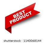 red vector banner ribbon best... | Shutterstock .eps vector #1140068144