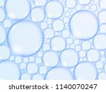 foam from bubbles on blue... | Shutterstock . vector #1140070247