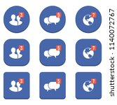 set of notification icons on a...   Shutterstock .eps vector #1140072767