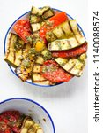 antipasti   courgette  pepper ... | Shutterstock . vector #1140088574
