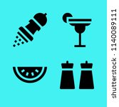 set of 4 food filled icons such ...   Shutterstock .eps vector #1140089111