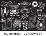 fast food vector illustration...   Shutterstock .eps vector #1140094889