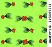 green palm leaves pattern for... | Shutterstock . vector #1140095861