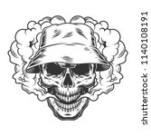 vaper skull concept in the... | Shutterstock .eps vector #1140108191