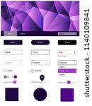 dark purple vector ui kit in...