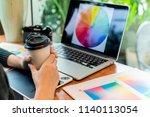 website designer working... | Shutterstock . vector #1140113054