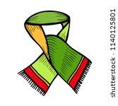 scarf design beautiful  hand... | Shutterstock .eps vector #1140125801
