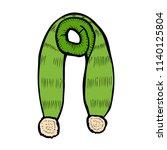 scarf design beautiful  hand... | Shutterstock .eps vector #1140125804