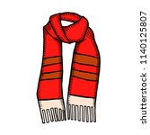 scarf design beautiful  hand... | Shutterstock .eps vector #1140125807