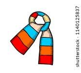 scarf design beautiful  hand... | Shutterstock .eps vector #1140125837