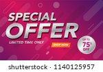 sale banner template background ... | Shutterstock .eps vector #1140125957