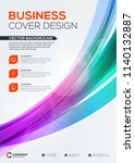 abstract vector business... | Shutterstock .eps vector #1140132887