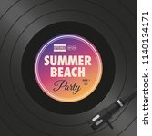 poster  flyer summer beach... | Shutterstock .eps vector #1140134171