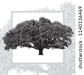 realistic natural leafy tree... | Shutterstock .eps vector #1140136469