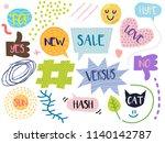 cartoon style illustration with ...   Shutterstock .eps vector #1140142787