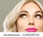 beautiful blonde woman with... | Shutterstock . vector #1140144731
