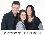 father and mother with teen... | Shutterstock . vector #1140145184