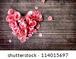 Vintage Heart From Flowers   On ...