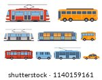 public city transport set  taxi ... | Shutterstock .eps vector #1140159161