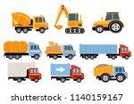 construction and cargo...   Shutterstock .eps vector #1140159167