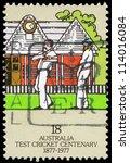 australia   circa 1977  a stamp ... | Shutterstock . vector #114016084