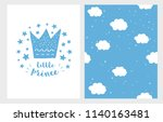 little prince. hand drawn baby... | Shutterstock .eps vector #1140163481