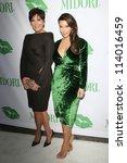 SANTA MONICA - SEP 25: Kris Jenner, Kim Kardashian at the Midori Makeover Parlour at Fred Segal on September 25, 2012 in Santa Monica, California - stock photo