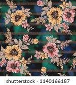 seamless floral design | Shutterstock . vector #1140166187