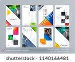 brochure design triangular... | Shutterstock .eps vector #1140166481