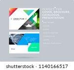 triangular design presentation...   Shutterstock .eps vector #1140166517