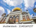 masjid sultan mosque in kampong ... | Shutterstock . vector #1140169157