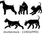set of giant schnauzer... | Shutterstock .eps vector #1140169901