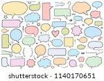 collection of hand drawn speech ...   Shutterstock .eps vector #1140170651