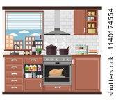 interior  vector illustration... | Shutterstock .eps vector #1140174554