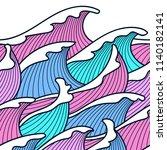seamless abstract pattern.... | Shutterstock .eps vector #1140182141
