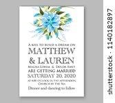 floral wedding invitation... | Shutterstock .eps vector #1140182897
