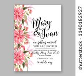 floral wedding invitation... | Shutterstock .eps vector #1140182927