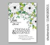 floral wedding invitation... | Shutterstock .eps vector #1140183011
