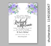 purple floral wedding... | Shutterstock .eps vector #1140183047