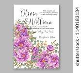 floral purple violet... | Shutterstock .eps vector #1140183134