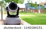 security camera . ip camera. | Shutterstock . vector #1140184151