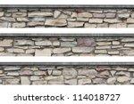 Stone Fence Wall Panorama ...